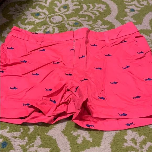 Pink fish shorts